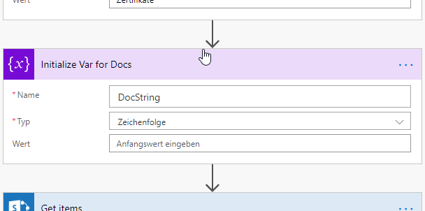 Initalize variable for Docs